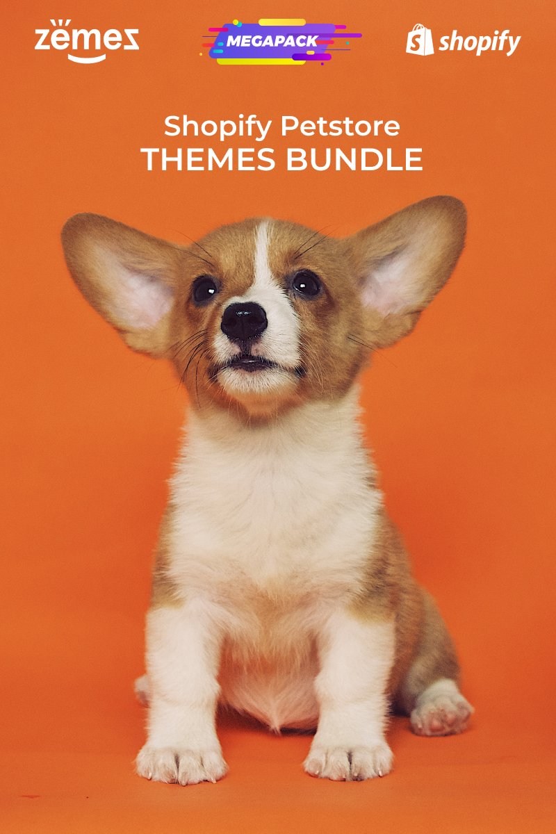 """Pets Store Themes Bundle"" 响应式Shopify模板 #94003"