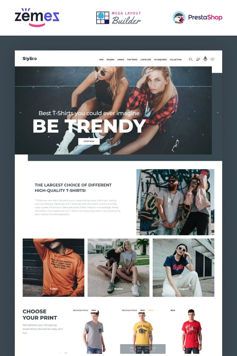 Responsivt Stylixo - T-Shirt eCommerce Design Theme PrestaShop-tema #94092