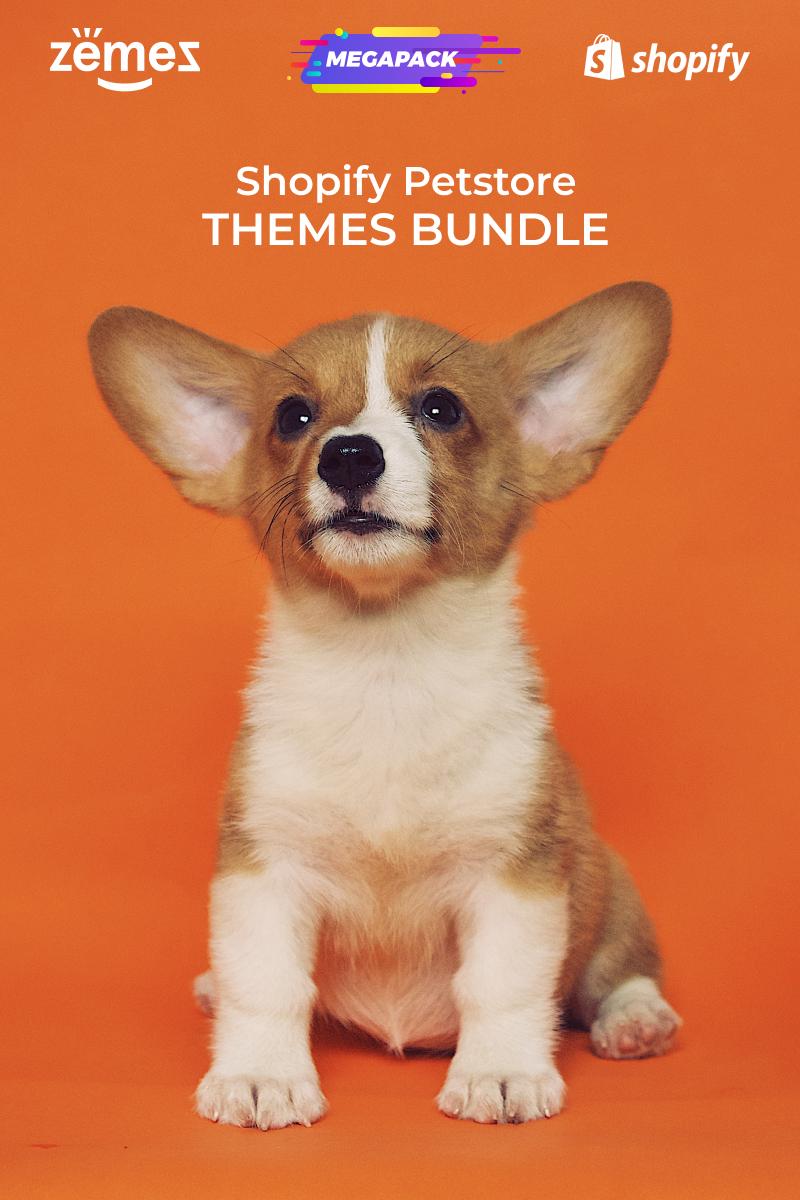 Responsywny szablon Shopify Pets Store Themes Bundle #94003