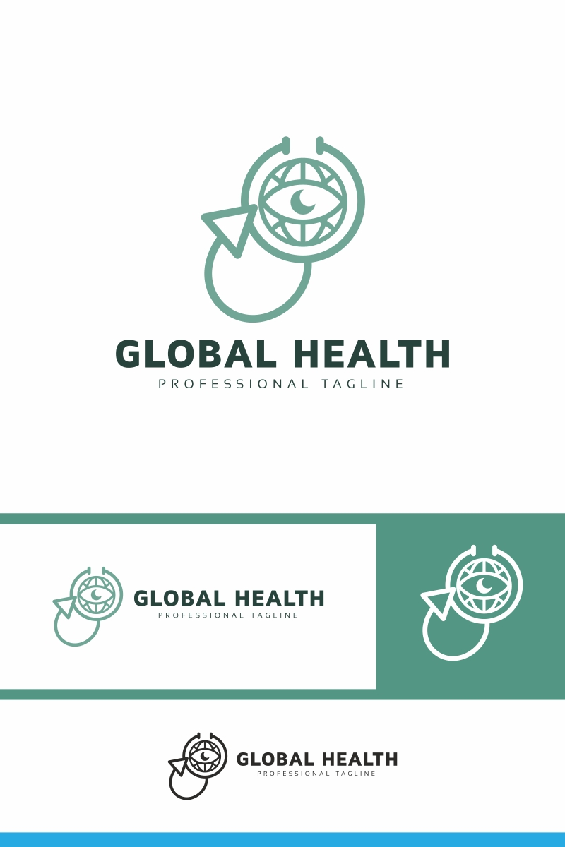 "Šablona logotypu ""Global Health"" #94021"