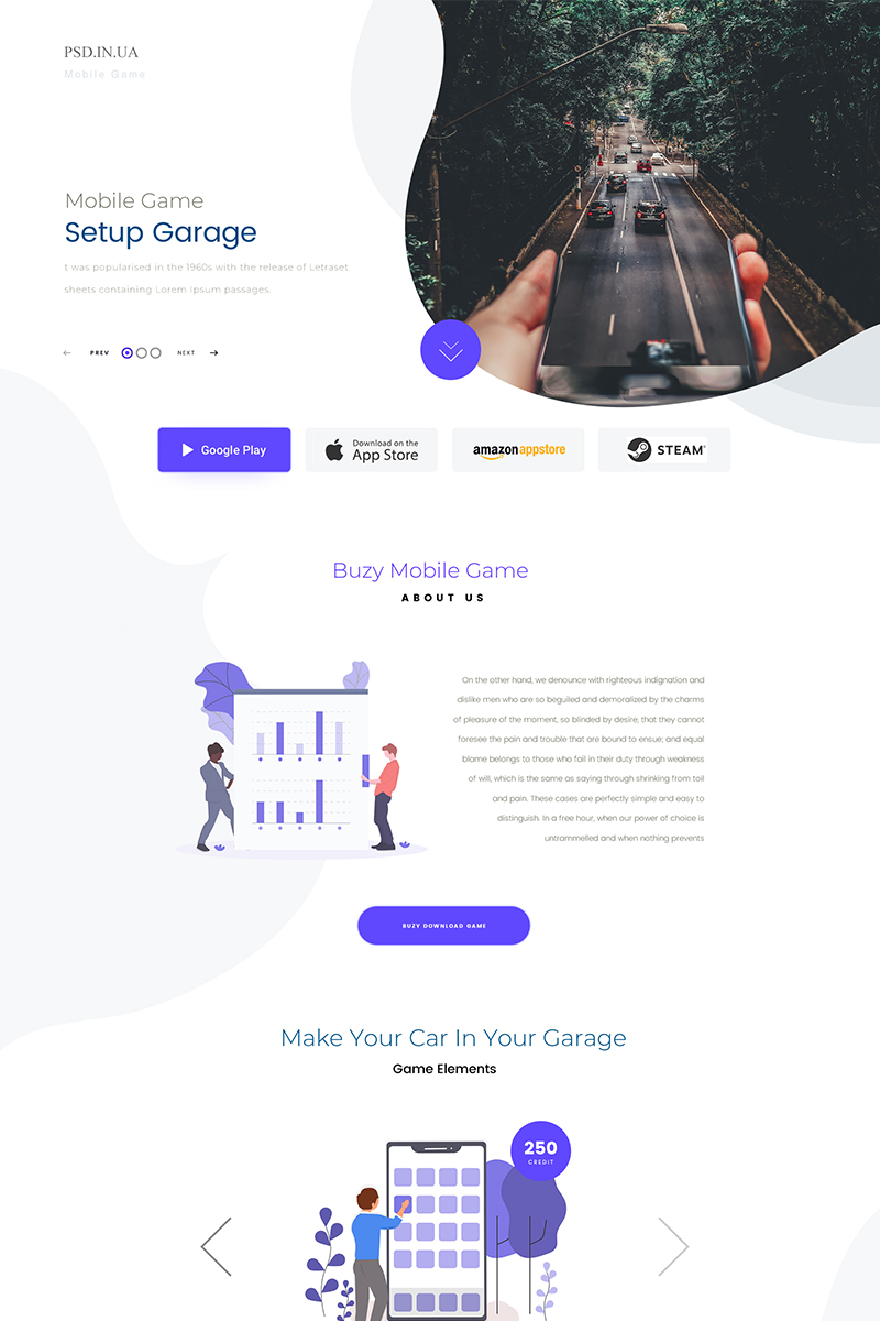 Startup PSD Template