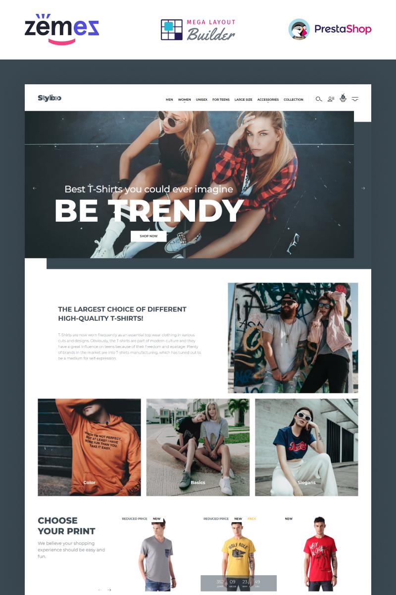 """Stylixo - T-Shirt eCommerce Design Theme"" - адаптивний PrestaShop шаблон №94092 - скріншот"
