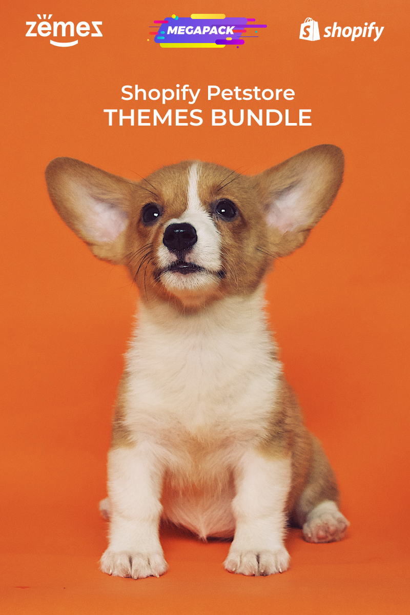 "Template Shopify Responsive #94003 ""Pets Store Themes Bundle"""