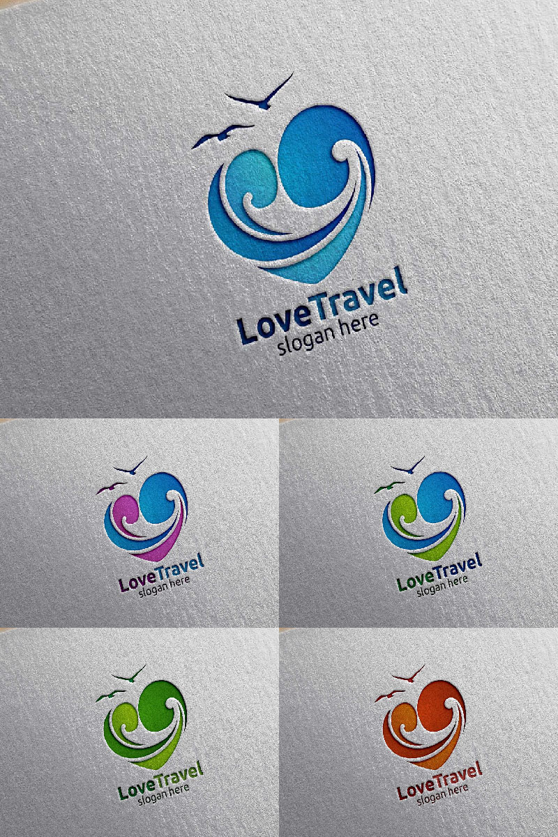 Travel with Love Unika logotyp mall #94044 - skärmbild