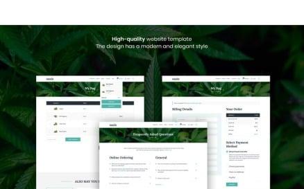 Oasis - Marijuana eCommerce Sketch Template