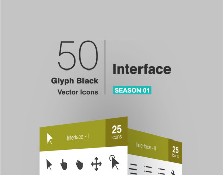 50 Interface Glyph Icon Set