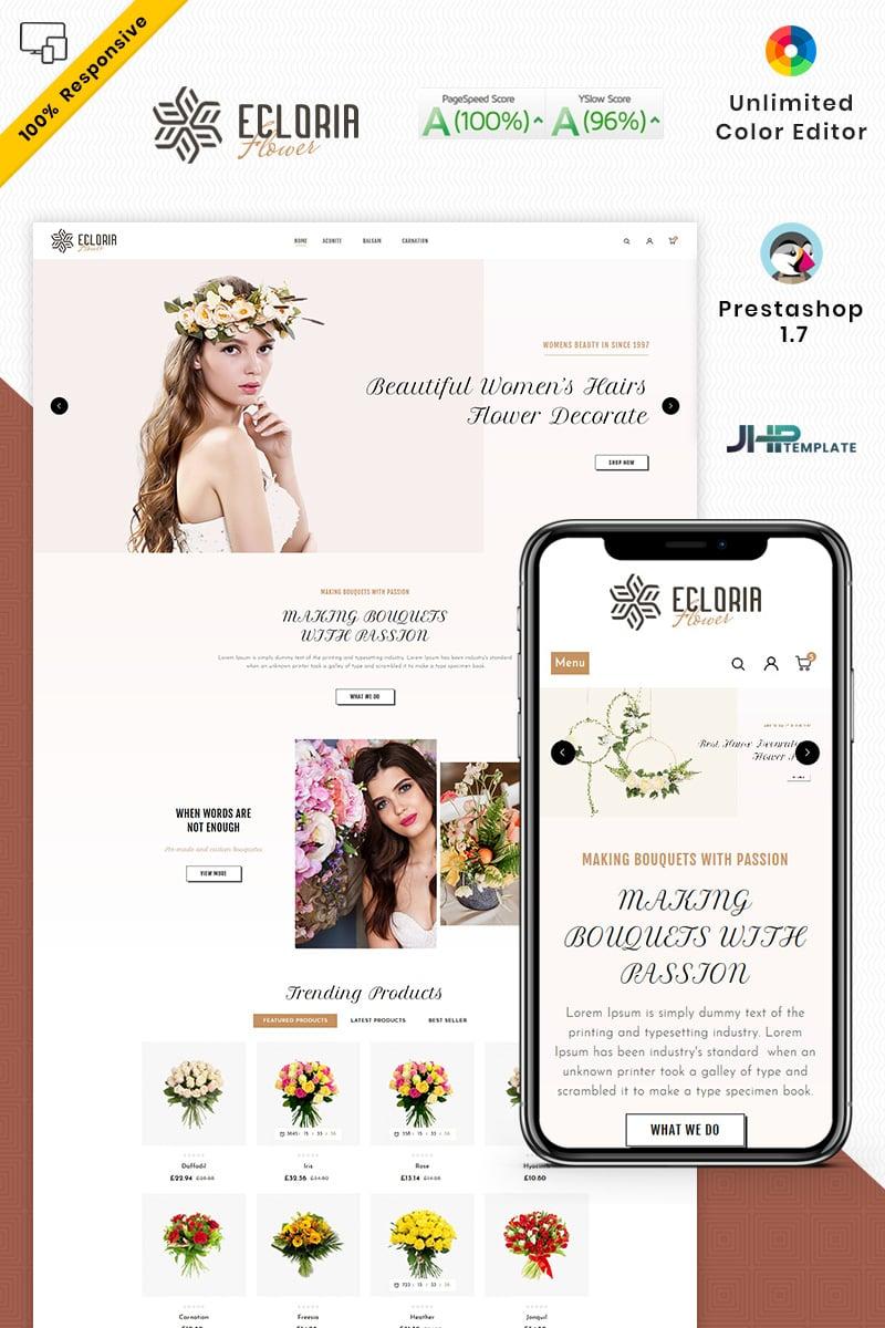 """Ecloria Flower"" Responsive PrestaShop Thema №94144"