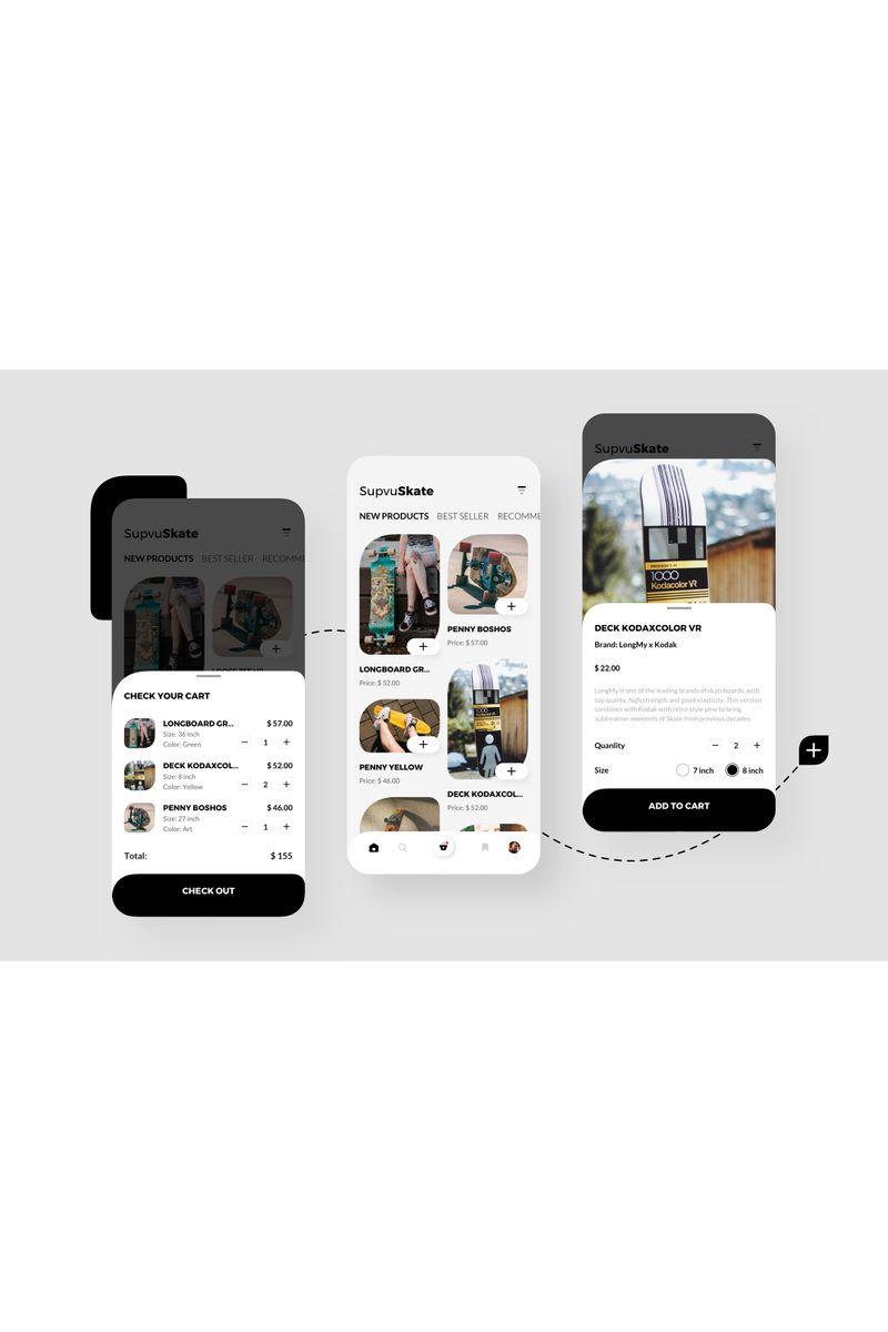 "Modello Sketch #94103 ""SupvuSkate Shoping Mobile UI"""