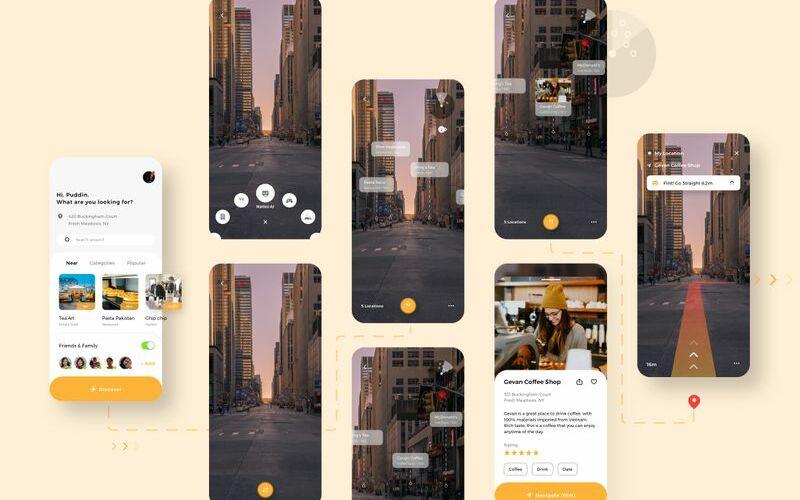Naties - Navigation Mobile App Sketch Template