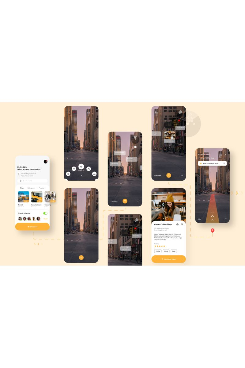 Naties - Navigation Mobile App Sketch Template