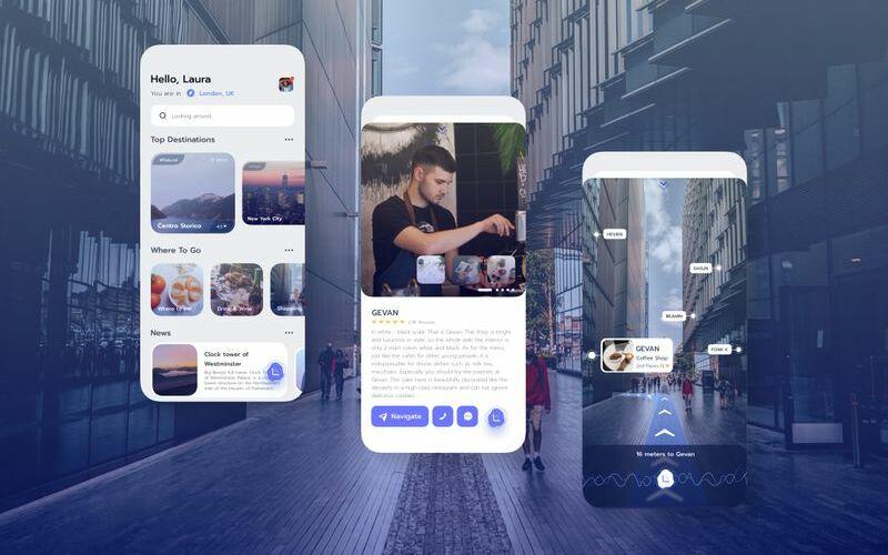 Navigation App UI KitG Sketch Template
