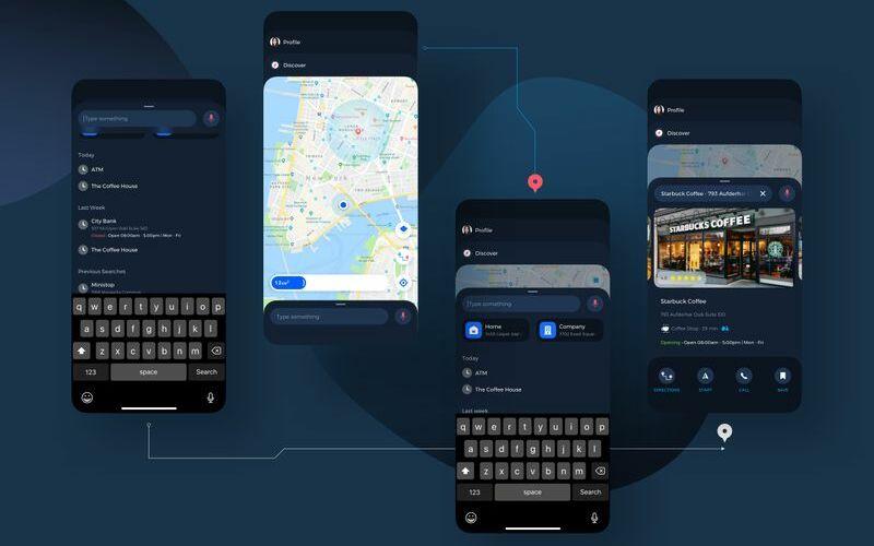 Navigation Map UI Kit Sketch Template
