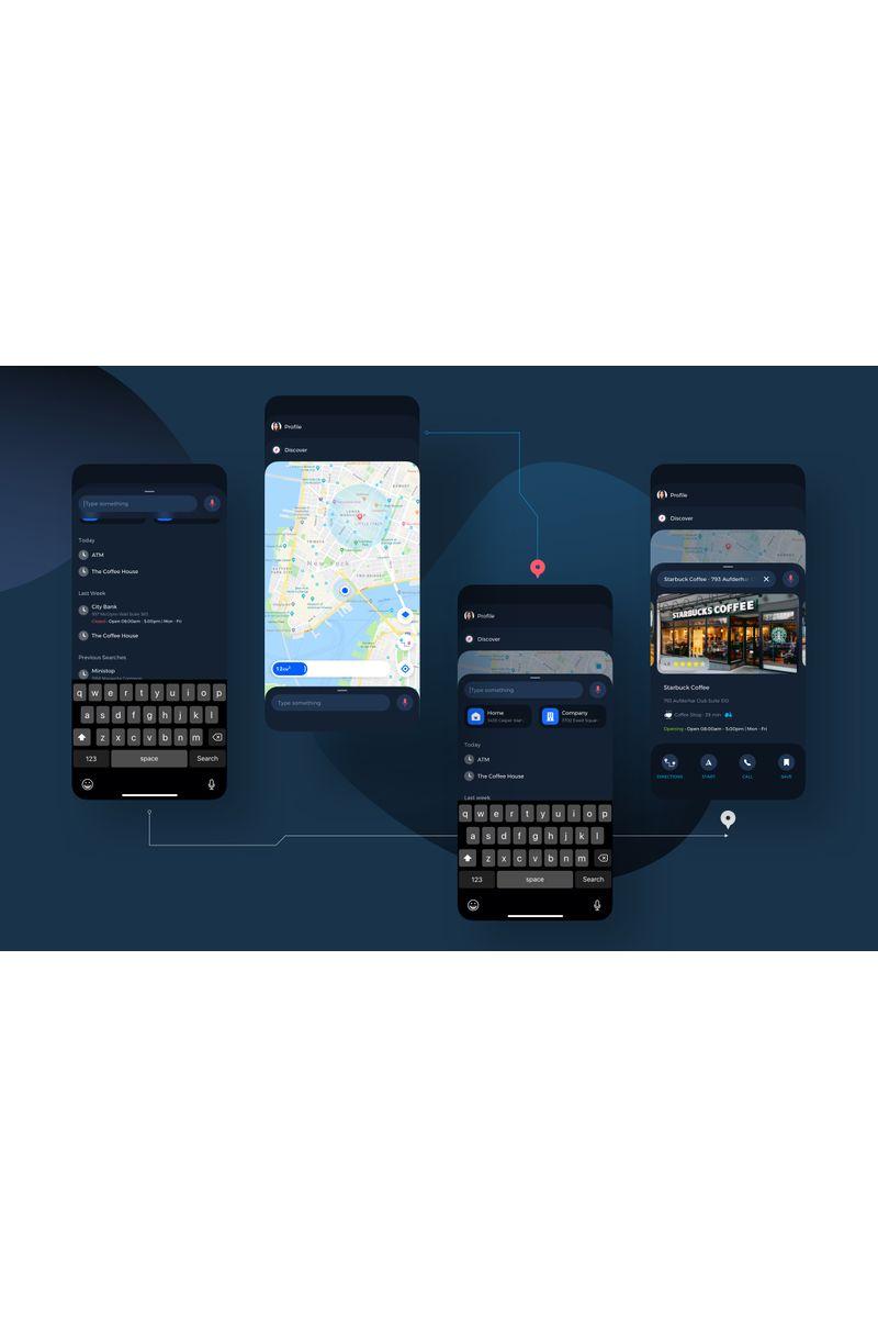 Navigation Map UI Kit Sketch Template - screenshot