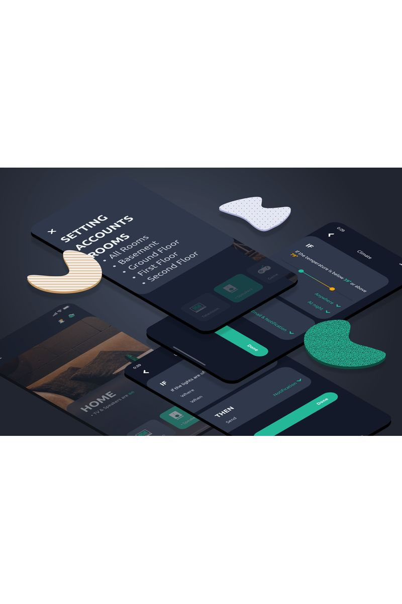Notification Dark Sketch Template