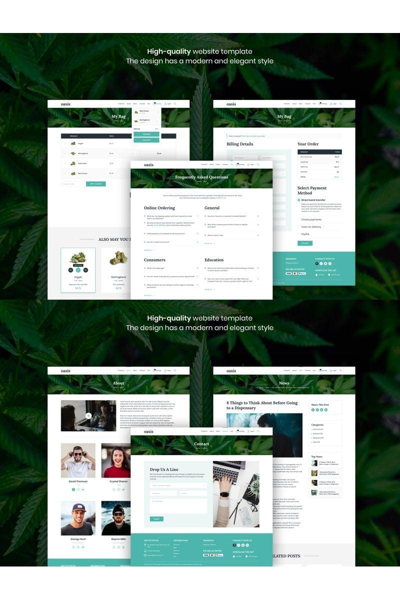 """Oasis - Marijuana eCommerce"" - Sketch шаблон №94137"