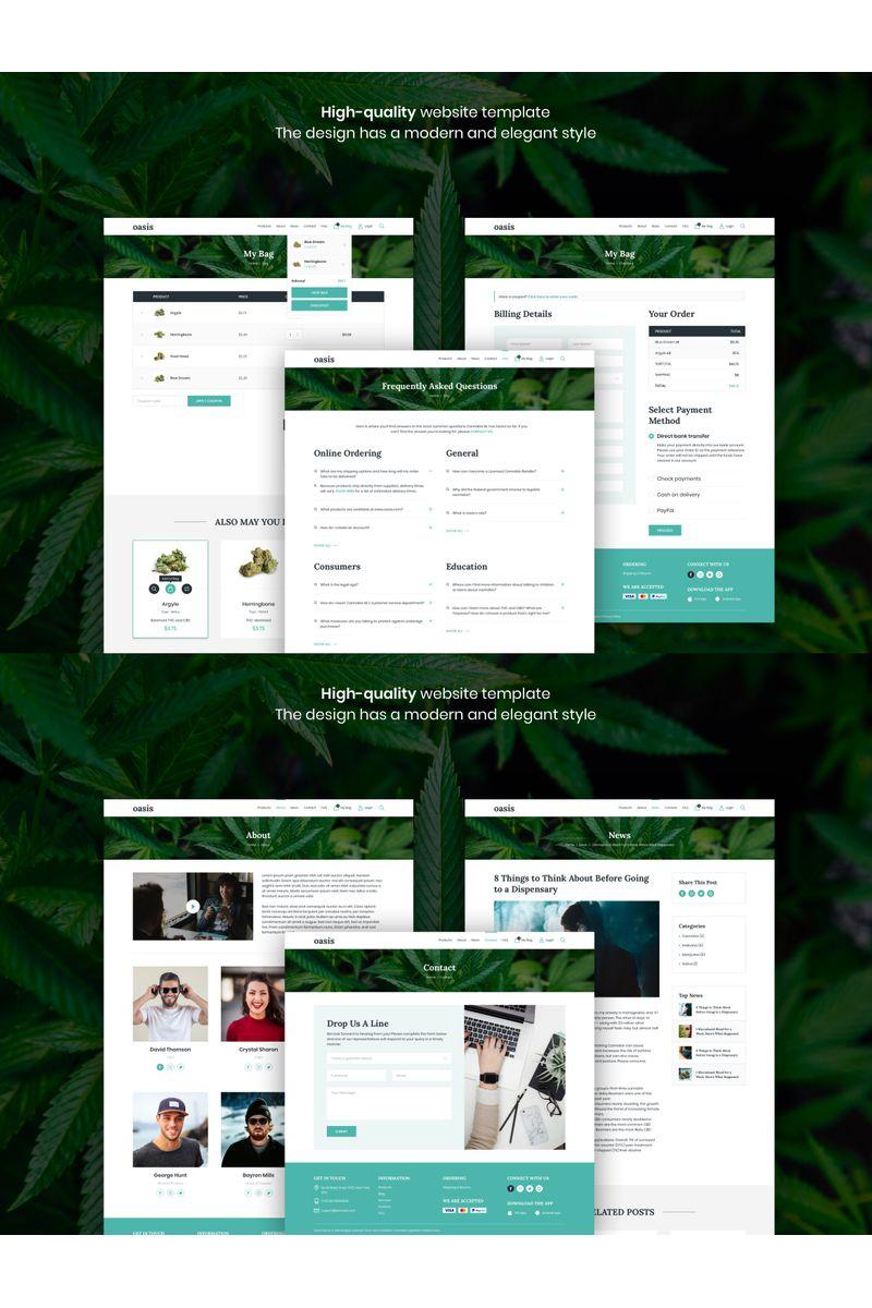 Oasis - Marijuana eCommerce Template de Ilustração №94137