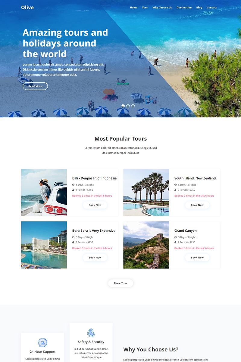 """""""Olive - Travel Agency"""" - bootstrap Шаблон цільової сторінки №94140"""