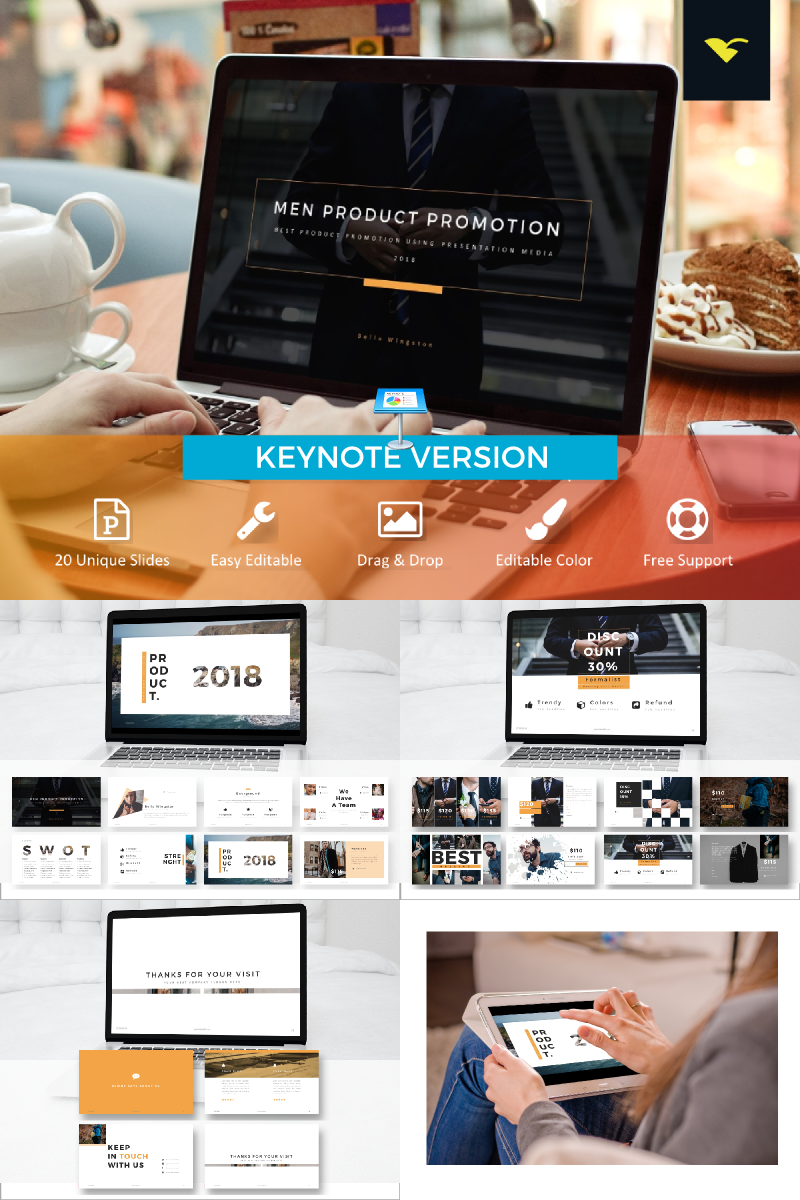 Product Promotion Slide Presentation Keynote Template
