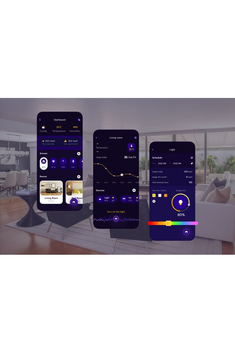 Smart Home UI KitG Sketch Template