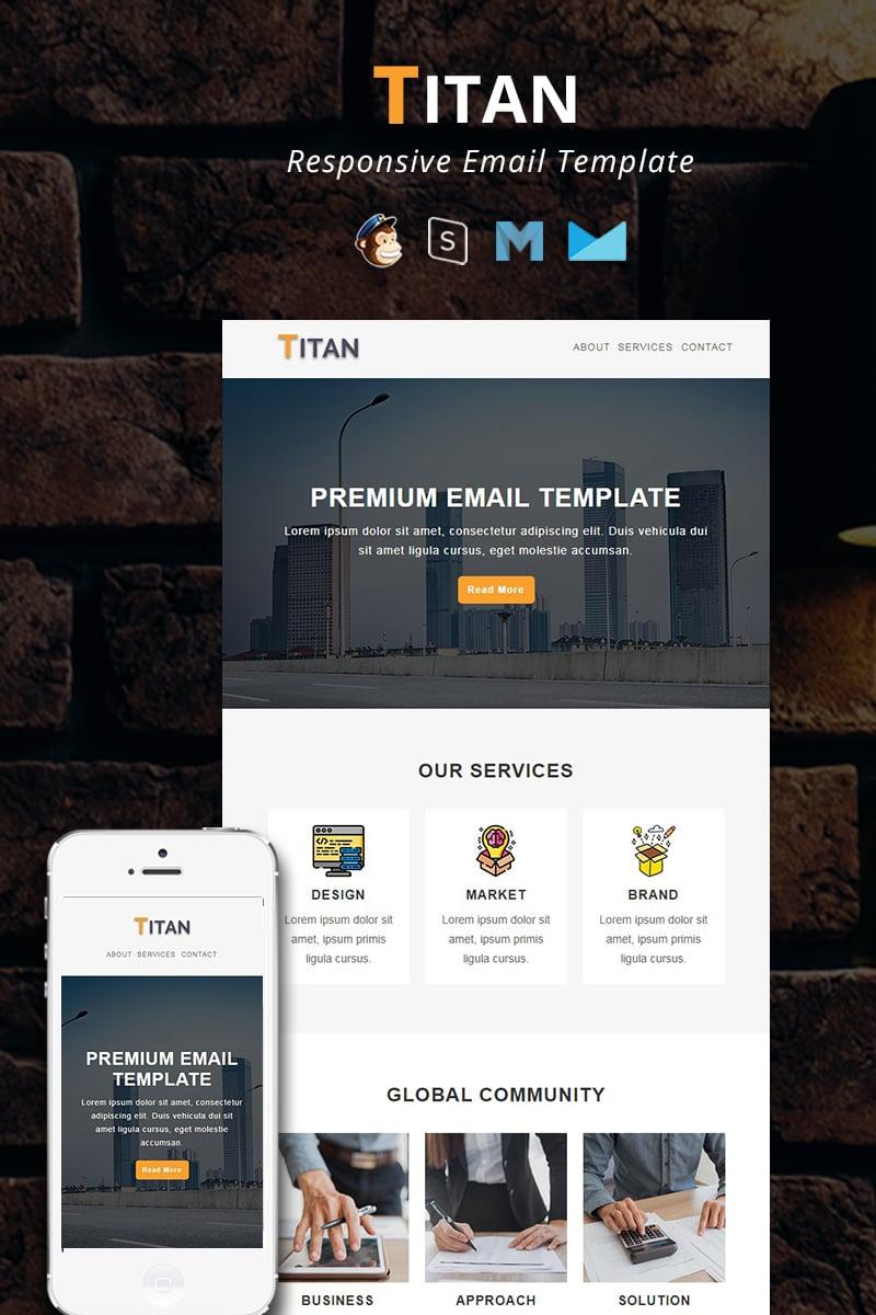 """TITAN - Corporate Responsive Email"" modèle Bulletin adaptatif #94186"