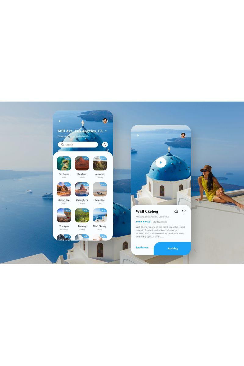 """""""Travel App UI"""" modèle Sketch  #94102"""