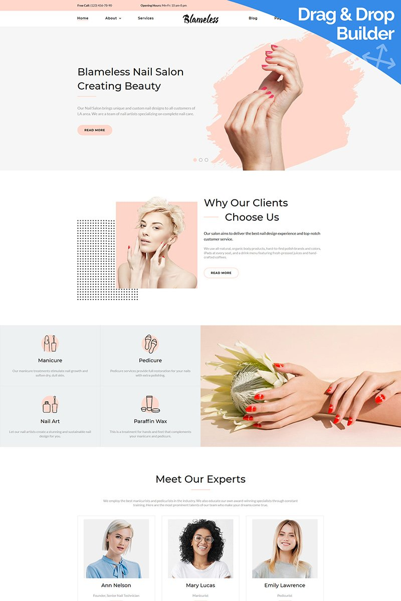 Blameless - Nail Art Moto CMS 3 Template
