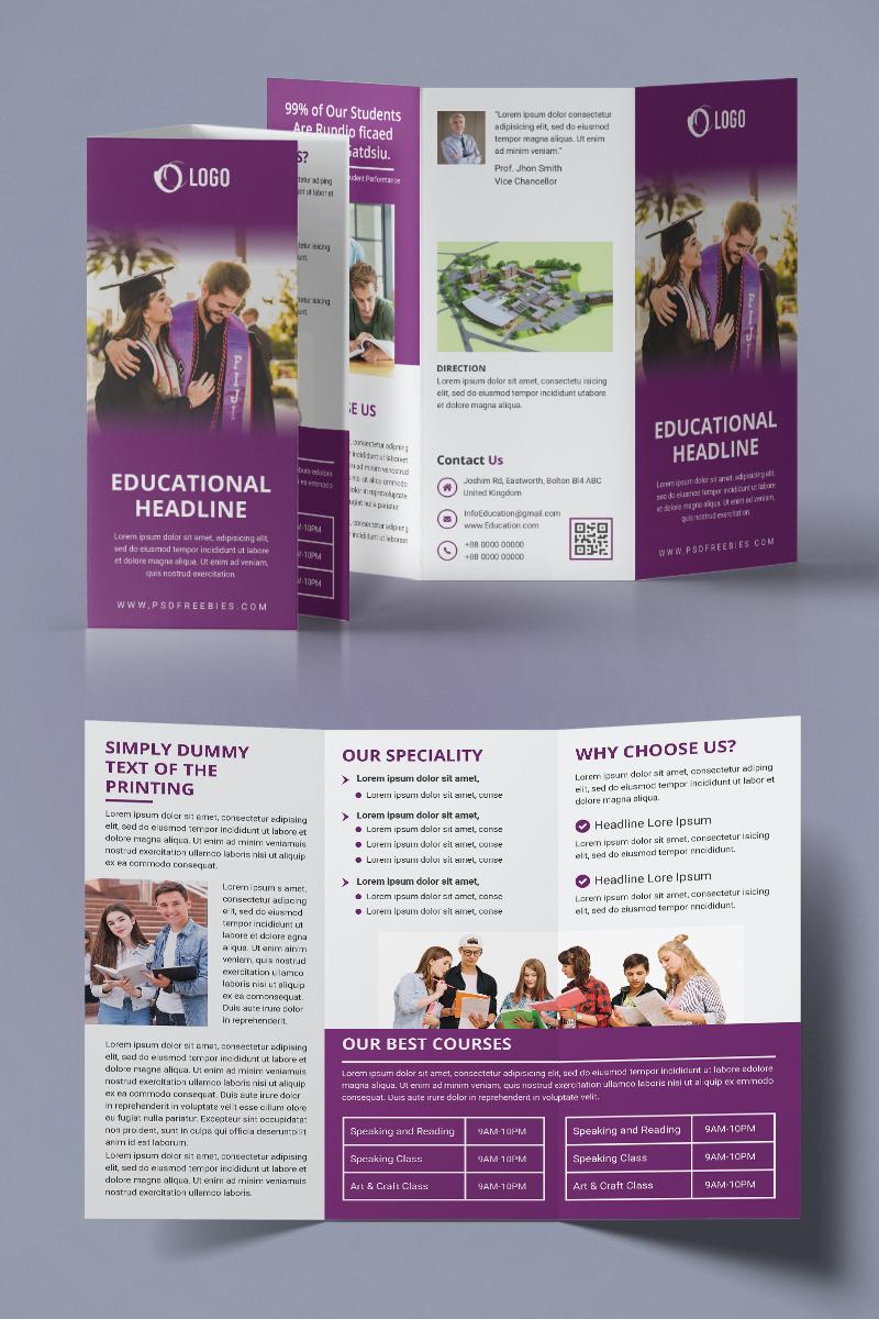 Educational Trifold Brochure Kurumsal Kimlik #94219