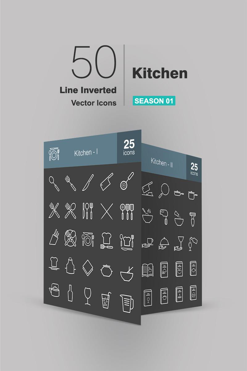"""""""50 Kitchen Line Inverted"""" ensemble d'Icônes  #94273"""