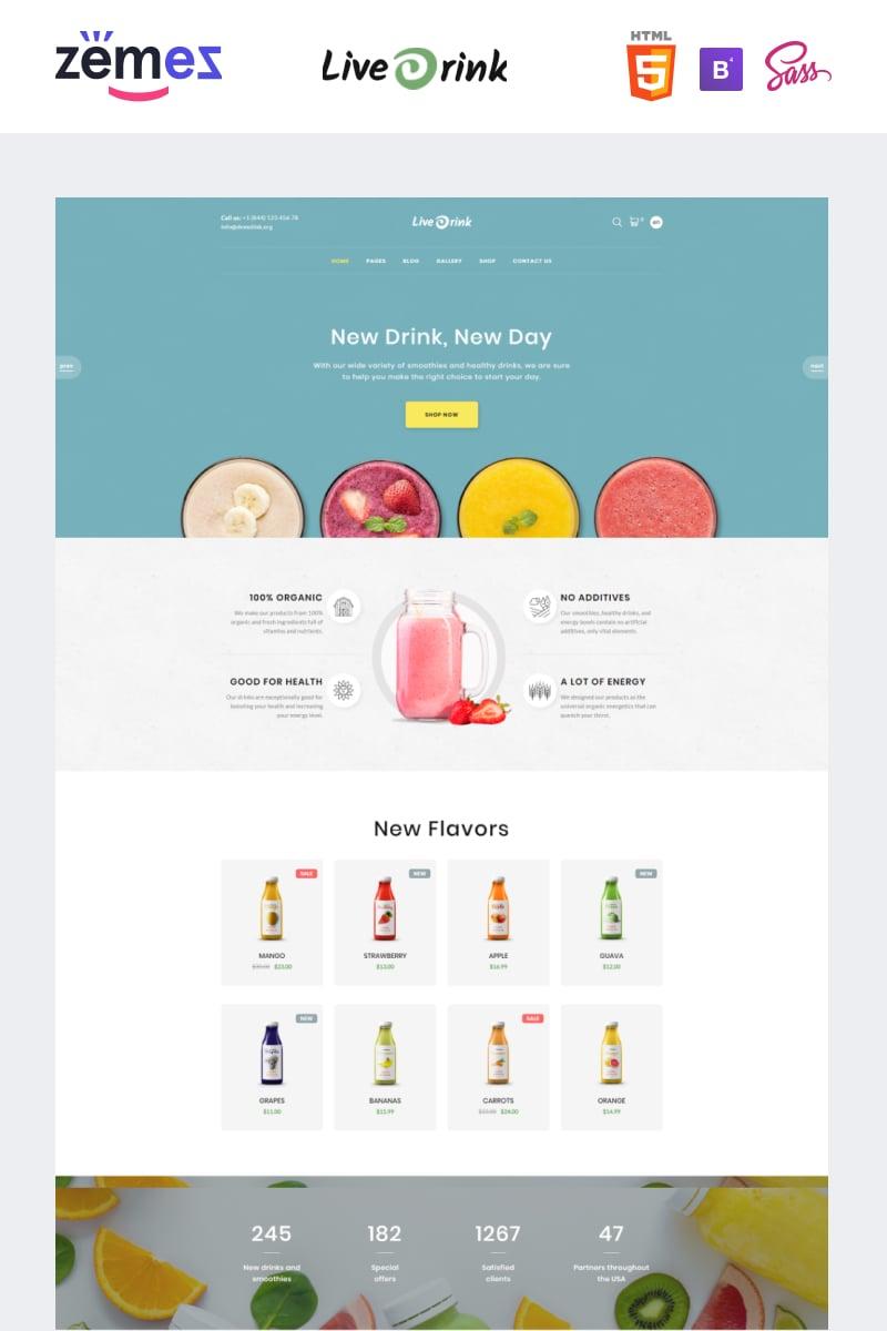 """LiveDrink - Smoothie Shop"" modèle web adaptatif #94207"