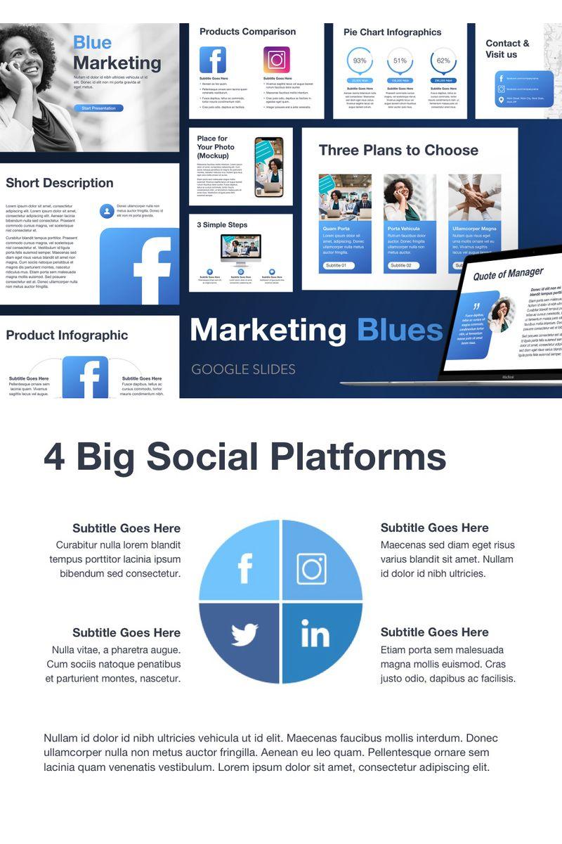 Marketing Blues Google Slides №94289