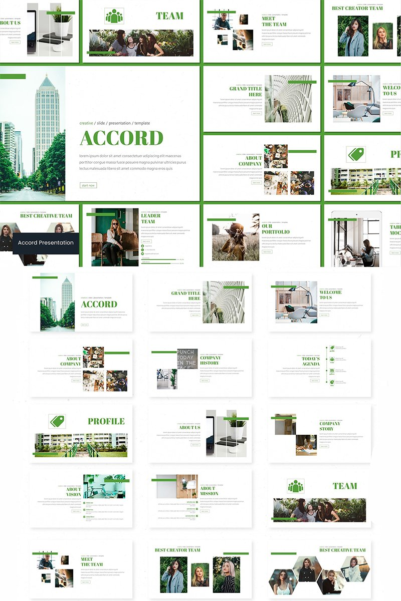 "Modello PowerPoint #94244 ""Accord"""