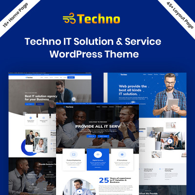 Responsive Techno - IT Solution Service Wordpress Teması #94212