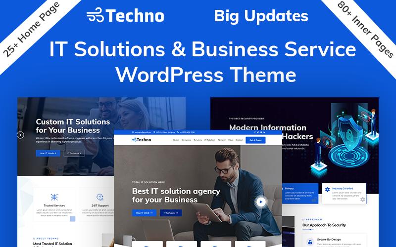 """Responzivní WordPress motiv """"Techno - IT Solutions & Business Service"""" #94212"""