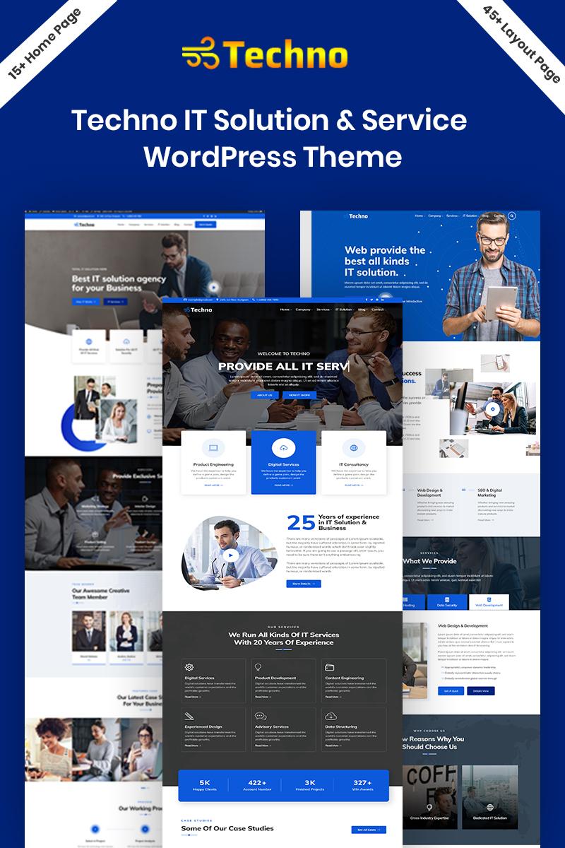 """Techno - IT Solution"" Responsive WordPress thema №94212"