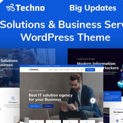 Techno - IT Solutions & Business Service WordPress Theme #94212