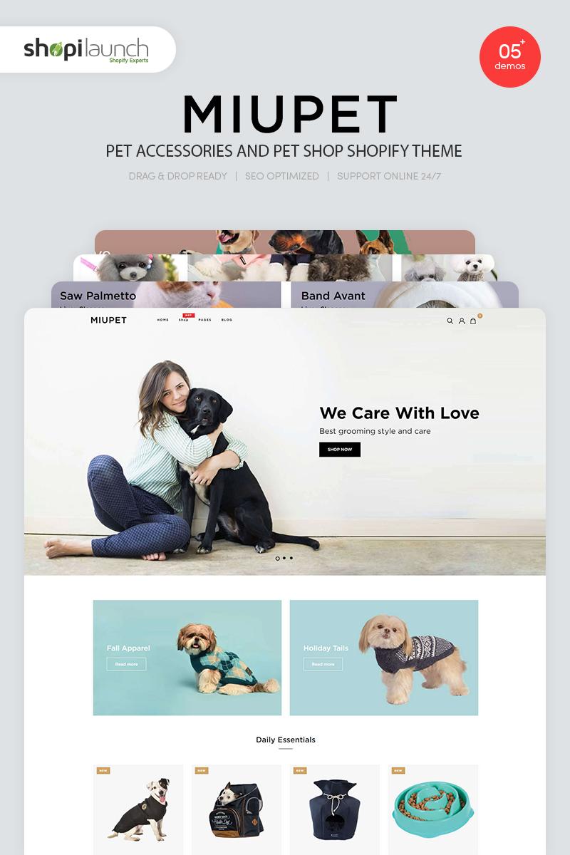 """Tema Shopify """"MiuPet - Pet Accessories and Pet Shop"""" #94295"""