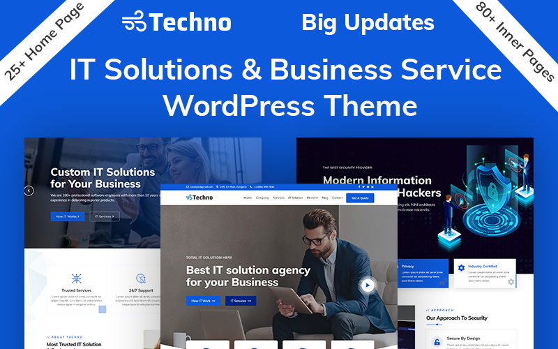 "Tema WordPress Responsive #94212 ""Techno - IT Solutions & Business Service"""