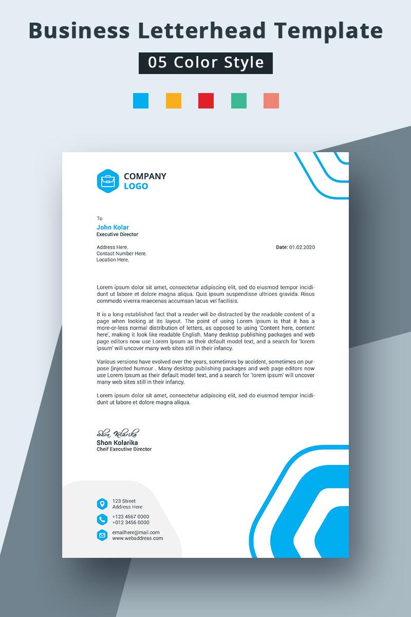 """Template di Identità Aziendale #94231 """"Colorful Letterhead For Business"""""""
