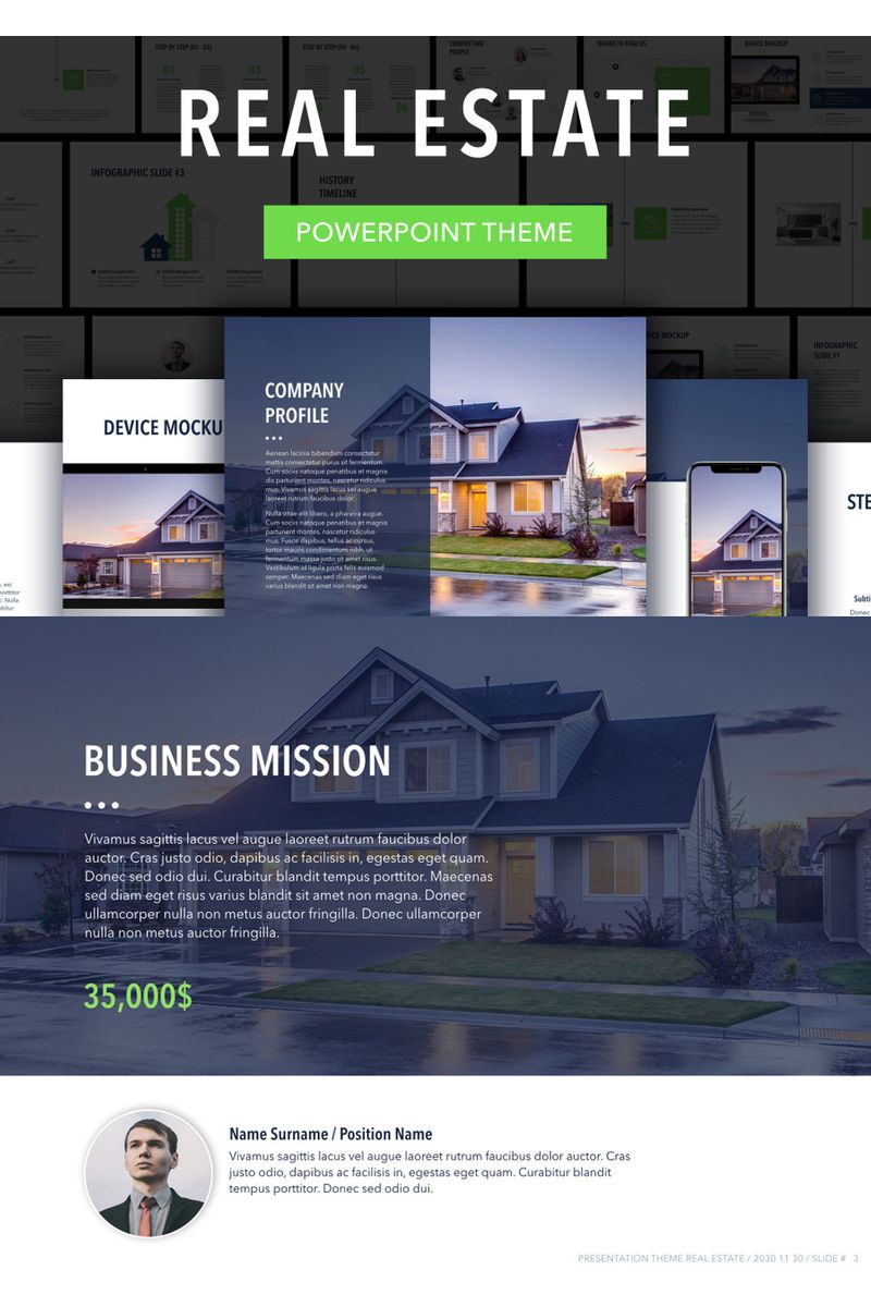 """Template PowerPoint #94246 """"Real Estate"""""""