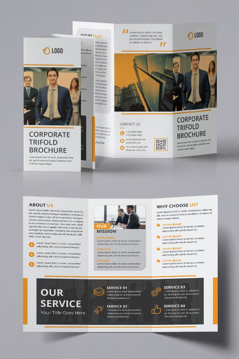 Trifold Brochure Design Corporate identity-mall #94224