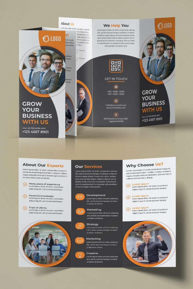 Trifold Brochure Design Kurumsal Kimlik #94221