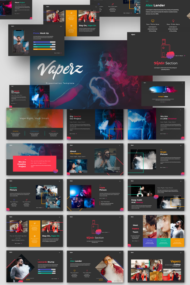 Vaperz Template Google Slides №94286