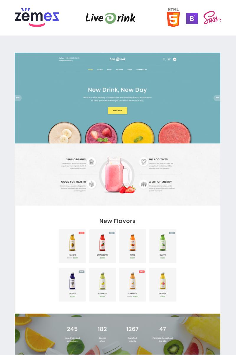 """Website Vorlage namens """"LiveDrink - Smoothie Shop"""" #94207"""