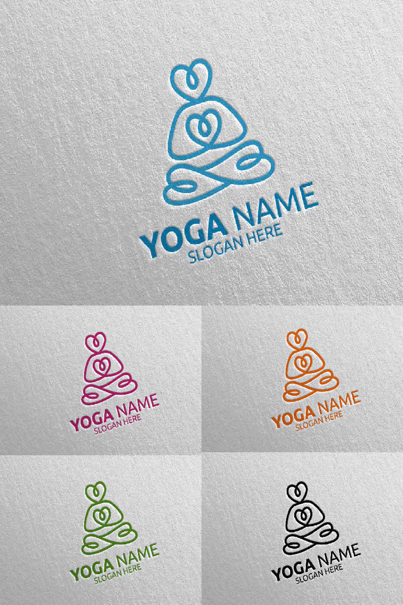 """Yoga and Human silhouette 56"" modèle logo  #94298"