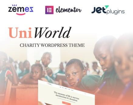 UniWorld - Donations Charity WordPress Theme
