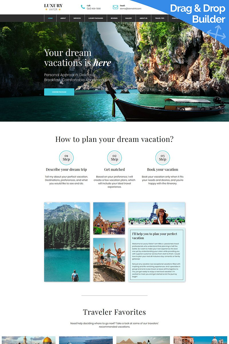 Luxury Viator Moto CMS 3 Template