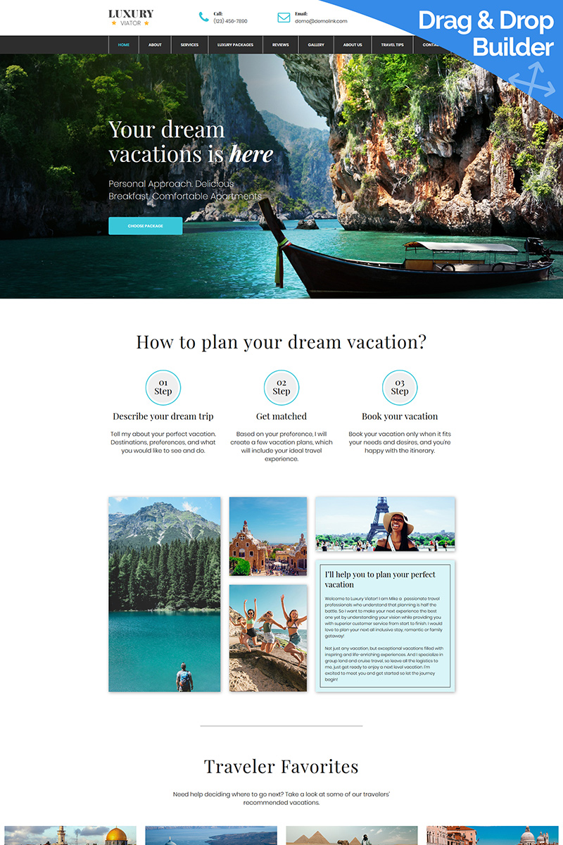 Luxury Viator Moto CMS 3 Template - screenshot