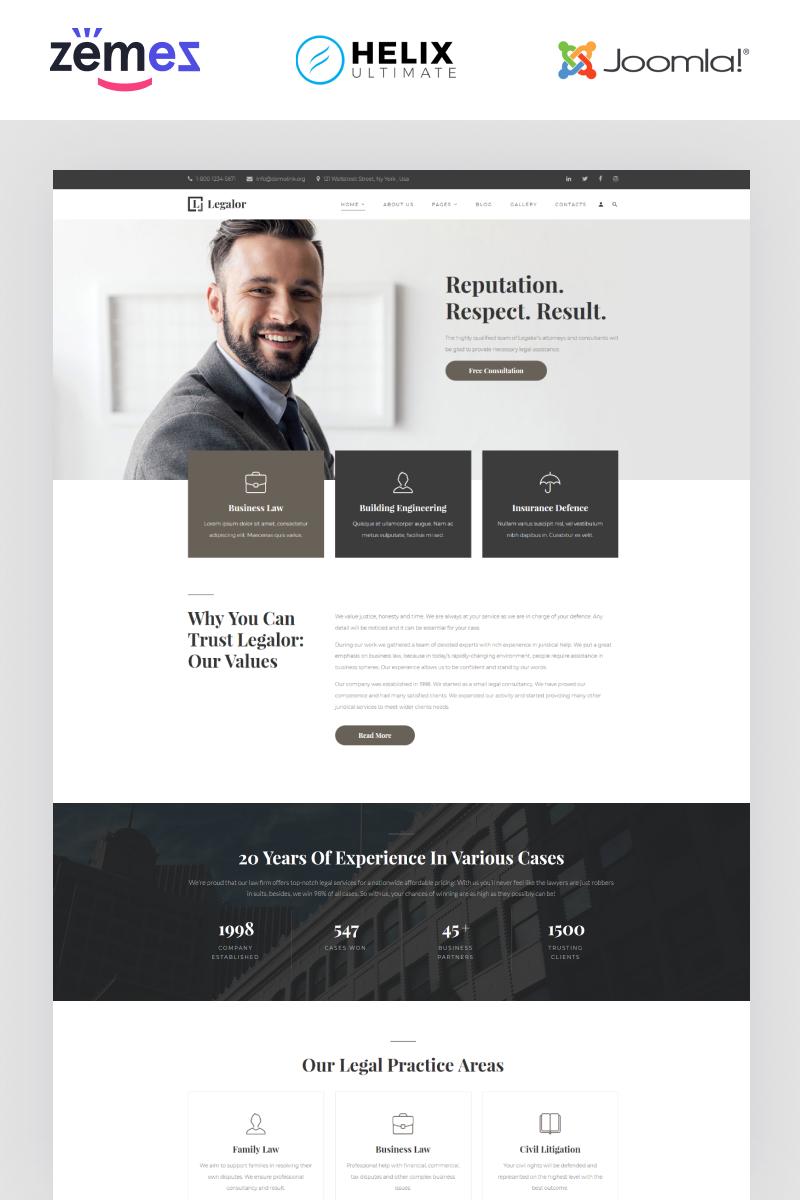 Responsywny szablon Joomla Legalor - Lawyer Multipage Clean Joomla Theme #94398