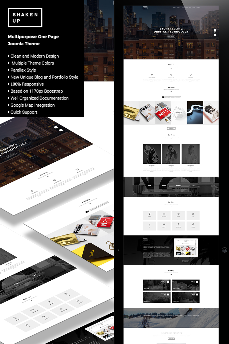 Shakenup - Onepage Business Joomla Template