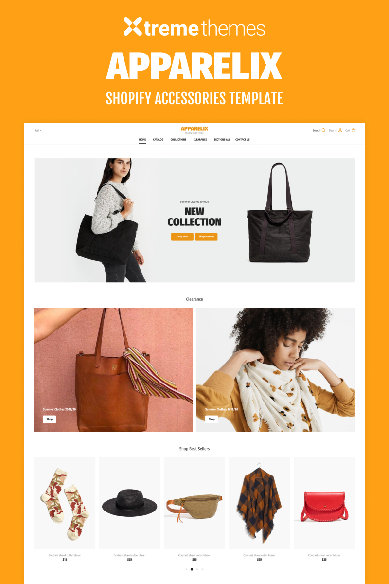 """Shopify Store for Accessories"" - адаптивний Shopify шаблон №94383"